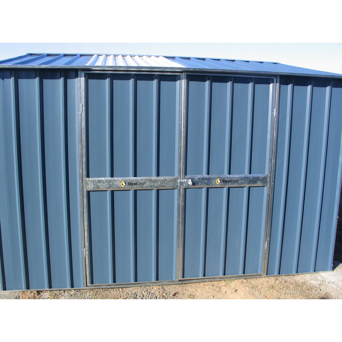 colour x gable shed with double doors metro