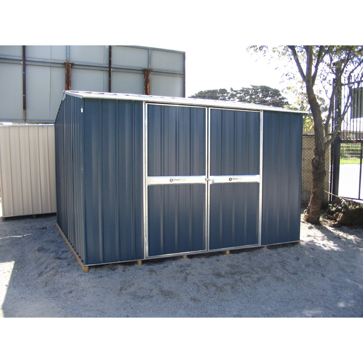 colour 3 x 3 gable shed double doors steelchief