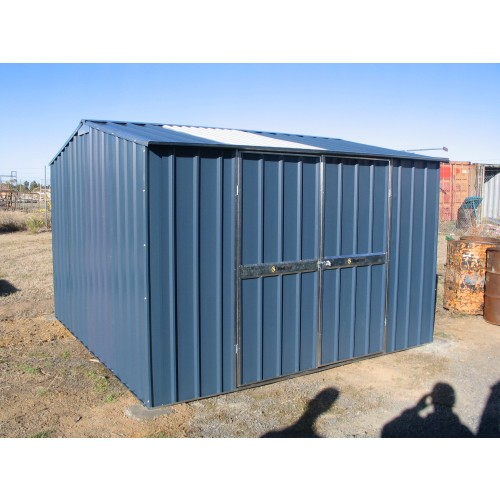 steel frame gable garden shed storage shed double