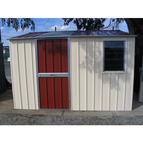 colour x 3 0m gable shed with window skylight metro steelchief